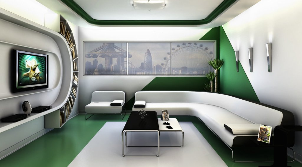 Futuristic Living Room by TwinShock